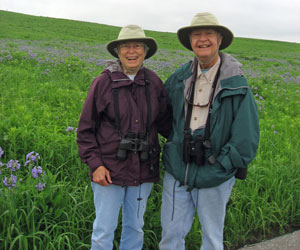 The Berriers enjoying spring wildflowers at Neal Smith NWR